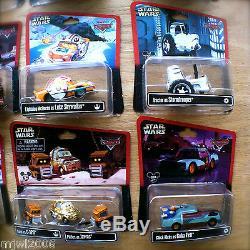 Disney Pixar Cars Star Wars Ensemble Complet Tout Parcs À Thème Moulé Sous Pression 2013-2015