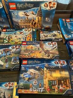 Énorme Lego Harry Potter Lot (20 Ensembles Complets Avec Boîtes Et Manuels)