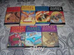 Ensemble Complet Complet Première Édition Harry Potter Livres Cartonnés De Poussière Rowling