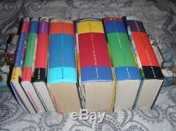 Ensemble Complet Complet Première Édition Harry Potter Poussière De Livres Cartonnés De Ref6