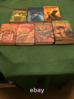 Ensemble Complet D'harry Potter Original -7 Premières Éditions/ Toutes Les Premières Inscriptions