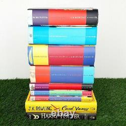 Ensemble Complet De 7 Harry Potter Hardback Book Première Édition Bloomsbury Jk Rowling