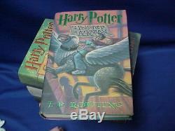 Ensemble Complet De 7 Harry Potter Première Édition De La Série Hc Livres Avec Couvertures De Poussière