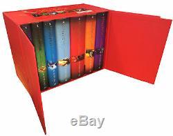 Ensemble De 7 Livres Harry Potter Complete Collection J. K. Rowling À Couverture Rigide Rouge Nouveau