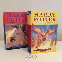Ensemble De Livres À Couverture Rigide Rare Et Rare De Harry Potter Au Royaume-uni, Première Édition