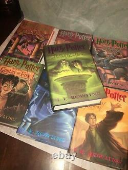 Ensemble Original Complet De Livres Harry Potter Hardcover #1 7 Jk Rowling 1st Ed Hcdj