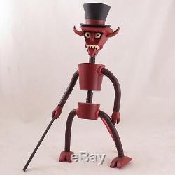 Figurine Complète Complète De Futurama Robot Devil Construite Par Toynami