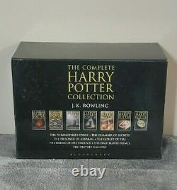 Harry Potter 1-7 Couverture Rigide Complète Ensemble Adulte Uk Couverture Bloomsbury