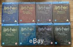 Harry Potter 1-8 Blu-ray Steelbook Set, Collection Complète, Tous Scellés Neufs