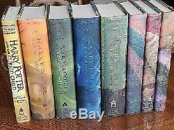 Harry Potter 1st Edition Complete Set 1-7 Livre Relié / Dj Plus Livre 8 J. K. Rowling