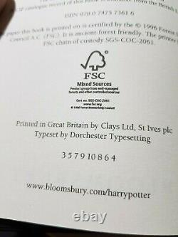 Harry Potter Adulte Complet Couvre Hardback Box Set J K Rowling Bloomsbury