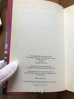 Harry Potter Book Édition Du Royaume-uni Première Édition Première Impression 1/1 Ensemble Complet