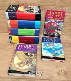 Harry Potter Book Set All Bloomsbury Hardbacks Uk First Edition Complete 1 To 7