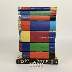 Harry Potter Book Set Bloomsbury Cartonnés Uk Complete First Edition 1-7 Vgc
