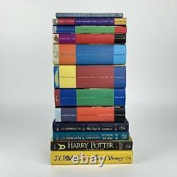 Harry Potter Book Set Bloomsbury Cartonnés Uk Complete Works Première Édition Vgc