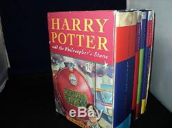 Harry Potter Coffret Jeu Complet De 4 Livre Relié Bloomsbury Boxed Housses