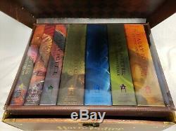 Harry Potter Coffret Livres Couverts À Couverture Rigide Livres 1-7 Coffre Coffre Neuf Complet Scellé