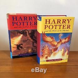 Harry Potter Complet Royaume-uni Bloomsbury Original Coffret Livre Boîte Slipcase