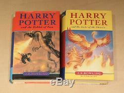 Harry Potter Complete 1-7 Livre À Couverture Rigide Set & Extras Jk Rowling Bundle Vgc