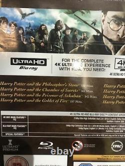 Harry Potter Complete 8-film Collection (4k Uhd Blu-ray, 2018, 16-disc Set) Nouveau