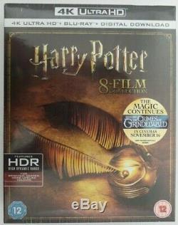 Harry Potter Complete 8-film Collection 4k Uhd Région Blu-ray Gratuit Nouveau