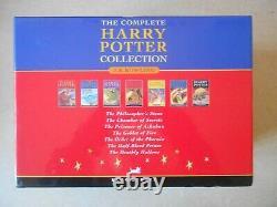 Harry Potter Complete Boxed Set 7 Livres Tous Hardbacks W. Djs Bloomsbury