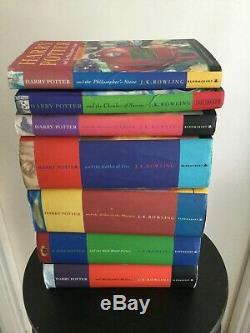 Harry Potter Complete Collection Book Set 1-7 Bundle First Editions Jk Rowling