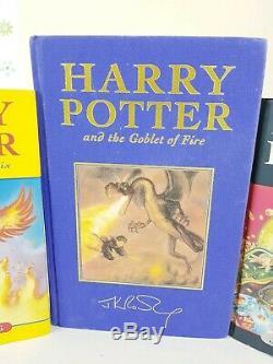 Harry Potter Complete First Editions Au Royaume-uni, Ensemble De Livres Sign Original Vgc (super Rare)