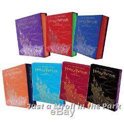 Harry Potter Complete Livres De J. K. Rowling 1-7 Éditions De Cadeaux Du Royaume-uni Slipcase Set Nouveau