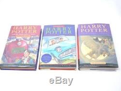 Harry Potter Complete Relié 1-7 U. K. Mis Bloomsbury Raincoast Jk Rowling