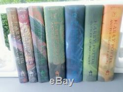 Harry Potter Complete Relié Book Set 1-7 J K Rowling Premier Américain Ed