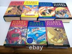 Harry Potter Complete Royaume-uni Bloomsbury Premières Éditions Hardback Book Set Collectable