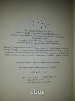 Harry Potter Complete Series (10 Livres) Jk Rowling 1st Ed/1st Print Us Couverture Rigide