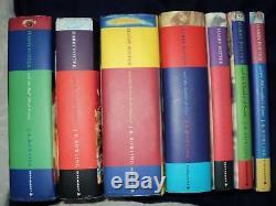 Harry Potter Complete Set De 7 Livre Relié Bloomsbury Books 1st Edition