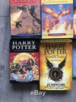 Harry Potter Complete Set Livre À Couverture Rigide 1-7 Bloomsbury Jk Rowling Extras