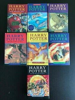 Harry Potter Complete Set Relié 1-7 Édition Bloomsbury