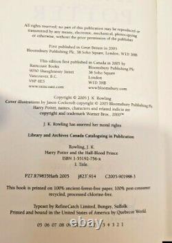 Harry Potter Complete Set Relié Livres Raincoast Bloomsbury Dj Lot De 8