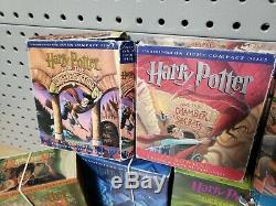 Harry Potter Complete Set Series CD Collection Livres 1 7 Box Usure