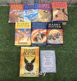 Harry Potter Complete Tous Cartonnés Book Set 1-7 Bloomsbury Jk Rowling & Extras