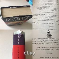 Harry Potter Complete Uk Bloomsbury First Edition Ensemble Complet De 7 Livres Hardback