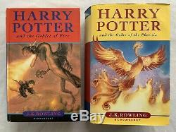 Harry Potter Complete Uk Bloomsbury First Editions Livre À Couverture Rigide Set Collectables