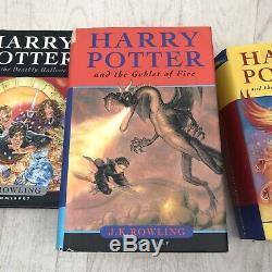 Harry Potter Complete Uk Bloomsbury Hardback Originale Du Livre Coffret Slipcase