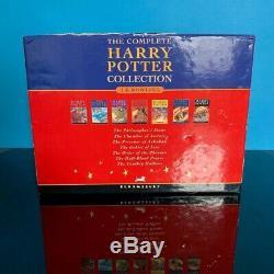Harry Potter Complete Uk Bloomsbury Hardback Originale Du Livre Coffret Slipcase A