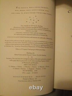 Harry Potter Couverture Rigide Ensemble De Livres Complets Première Édition Américaine/3 Premières Impressions