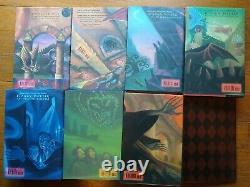 Harry Potter Couverture Rigide Livre Ensemble Complet De Coffre 1- 7 Avec Stickers Et Tatouages