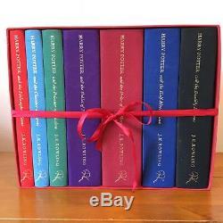 Harry Potter Deluxe Edition Royaume-uni Bloomsbury Set Complet Livres Cartonnés Logo Rare