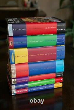 Harry Potter Ensemble Complet Couverture Rigide Bloomsbury/raincoast Jk Rowling Très Bon