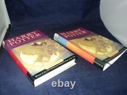 Harry Potter Ensemble Complet De 7 Hardback Bloomsbury Edition Livres