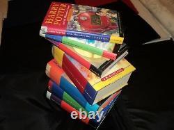 Harry Potter Ensemble Complet De 7 Livres Hardback Bloomsbury Edition New Old Stock