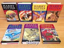 Harry Potter Ensemble Complet De Boîtes À Livres Cartonnées Originales Au Royaume-uni, Bloomsbury, Royaume-uni